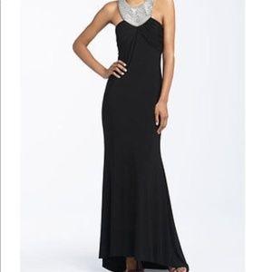 JS Boutique Halter Full-Length Formal EveningDress